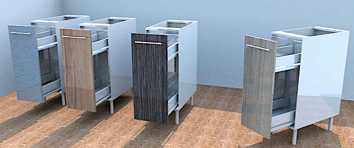 kitchen units Nelspruit, Spice drawer in different finishes