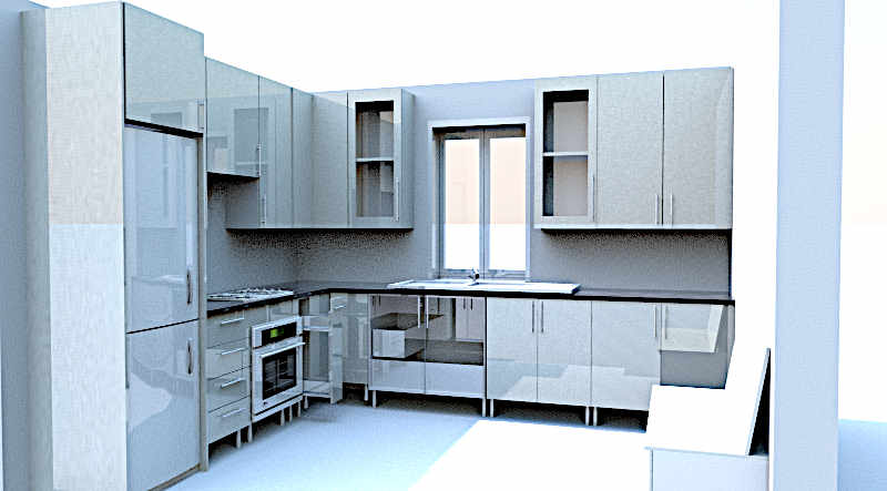medium sized computerised free 3D kitchen design, Nelspruit
