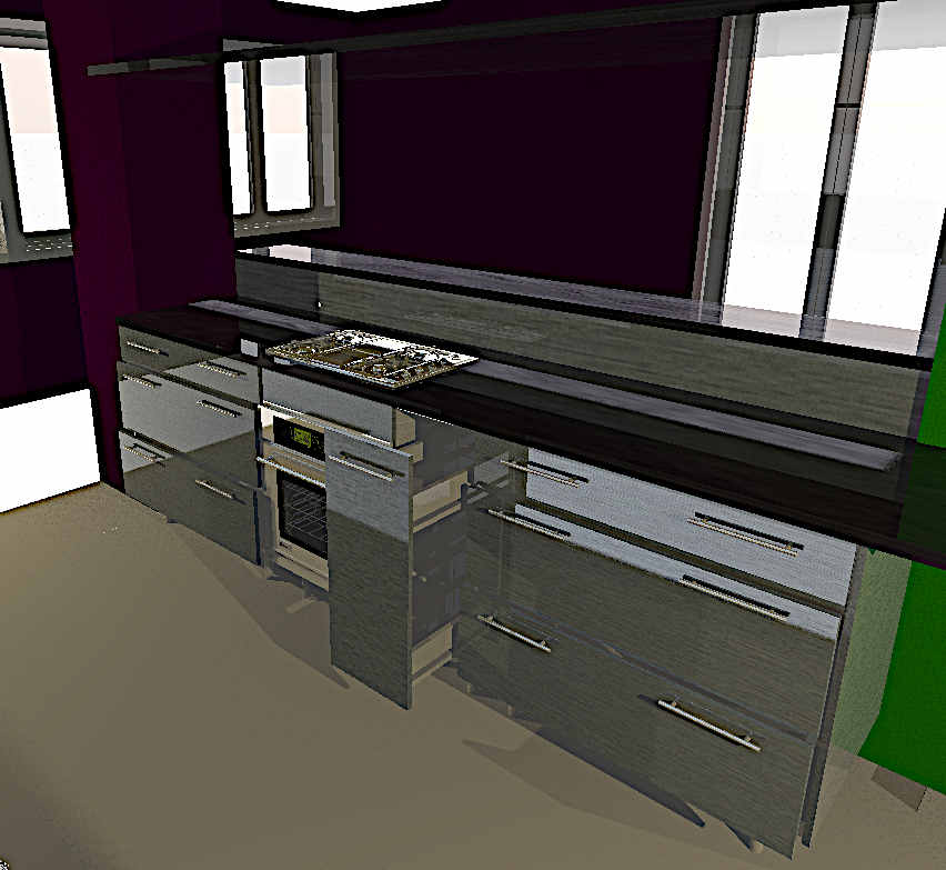 computerised 3D kitchenette design, Nelspruit